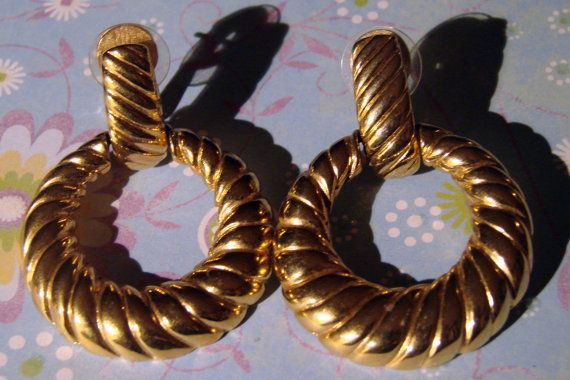 Wonderful VIntage Nina Ricci Clip On Hoop Dangles by EveGorgeous, $15.00