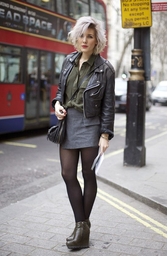 London Street Style Material Girl Look Leather Jacket