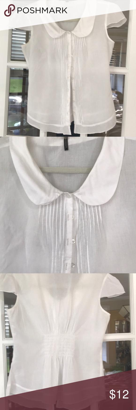 White Cotton Capped Sleeve Shirt Cap Sleeve Shirt Shirt Sleeves Cap Sleeves