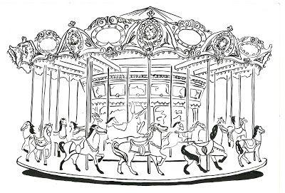 An Illustrated Carousel Tatuagem De Carrossel Carrossel Antigo