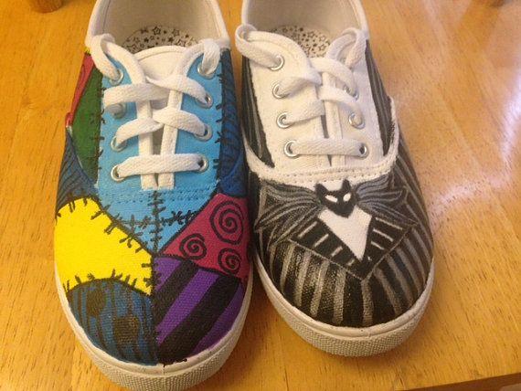Nightmare Before Christmas Shoes Diy.Disney S Nightmare Before Christmas Jack And Sally Custom