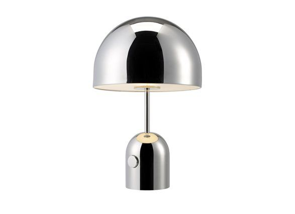 Tom Dixon S Bell Table Light In Chrome There Is Also A Bell Floor Chrome Table Lamp Table Lamp Table Lamp Design