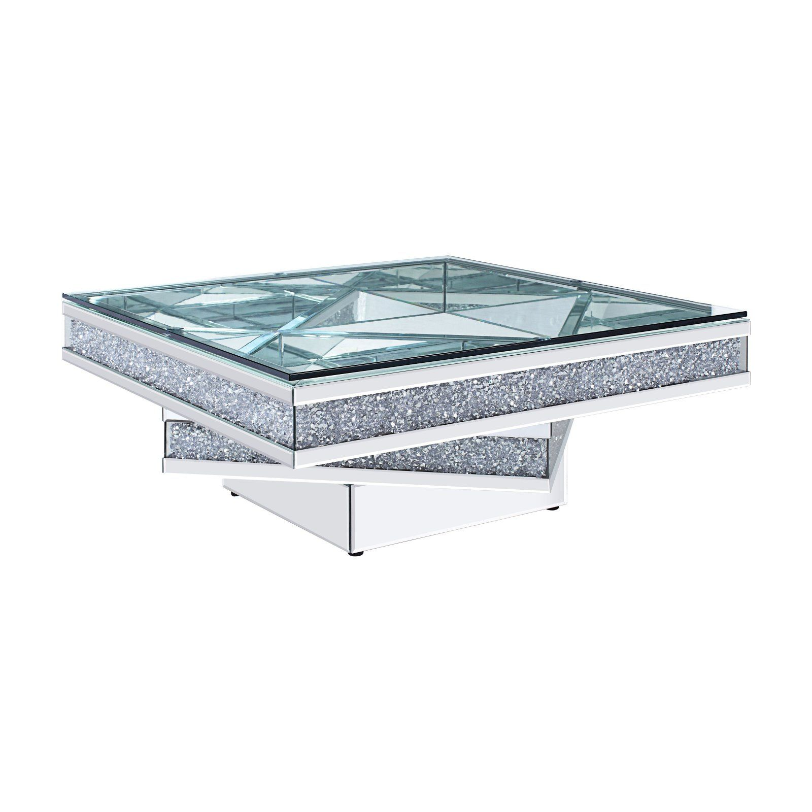 Acme Furniture Noralie Square 3 Tier Coffee Table Coffee Table