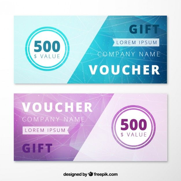 abstract gift voucher pack free vector graphic design pinterest