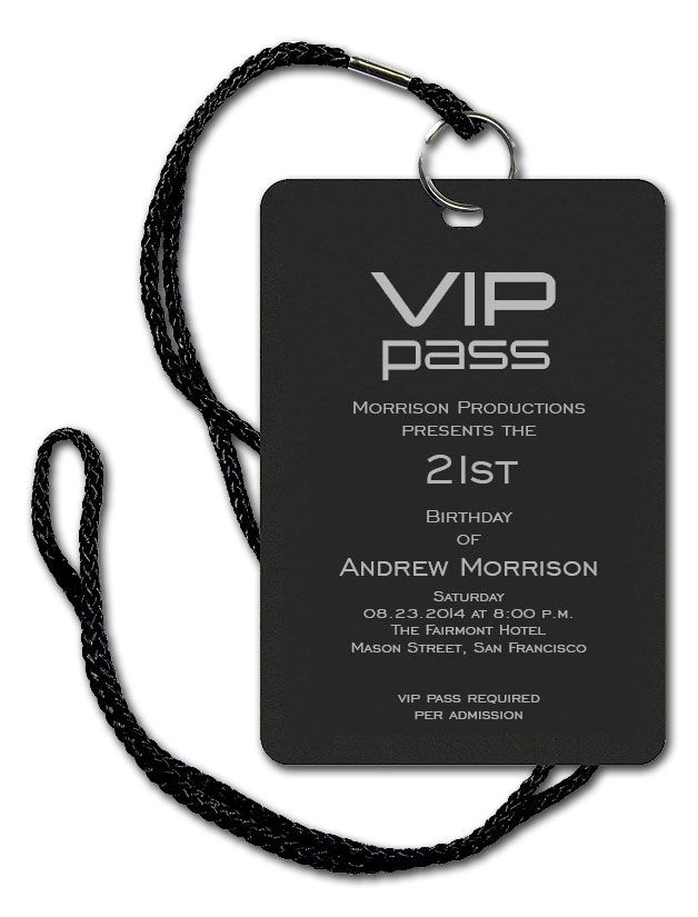 Completely new VIP Pass | Corporate invitation, Vip pass and Vip AX56