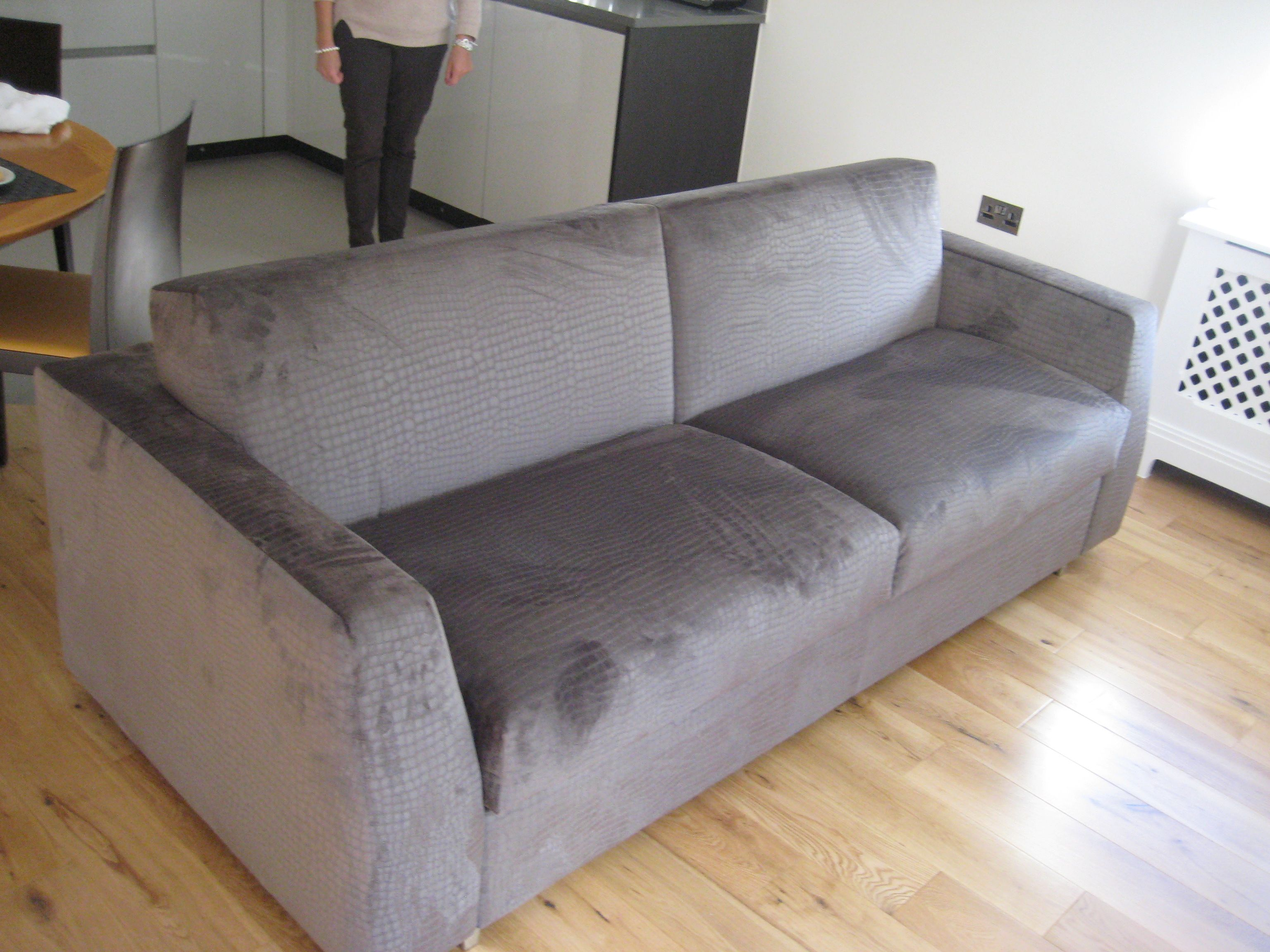 Italian luxury sofabed Spluga 3 seat sofa bed which measures 217