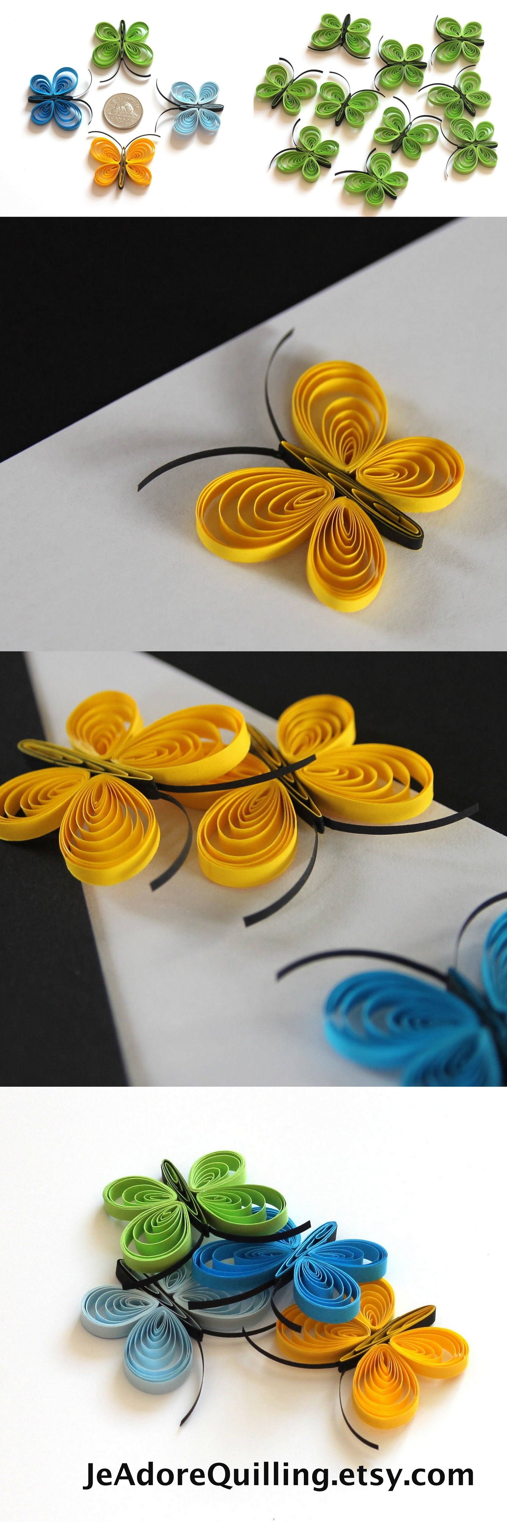 Quilled Butterflies Paper Quilling Art Confetti Scatter Ornament