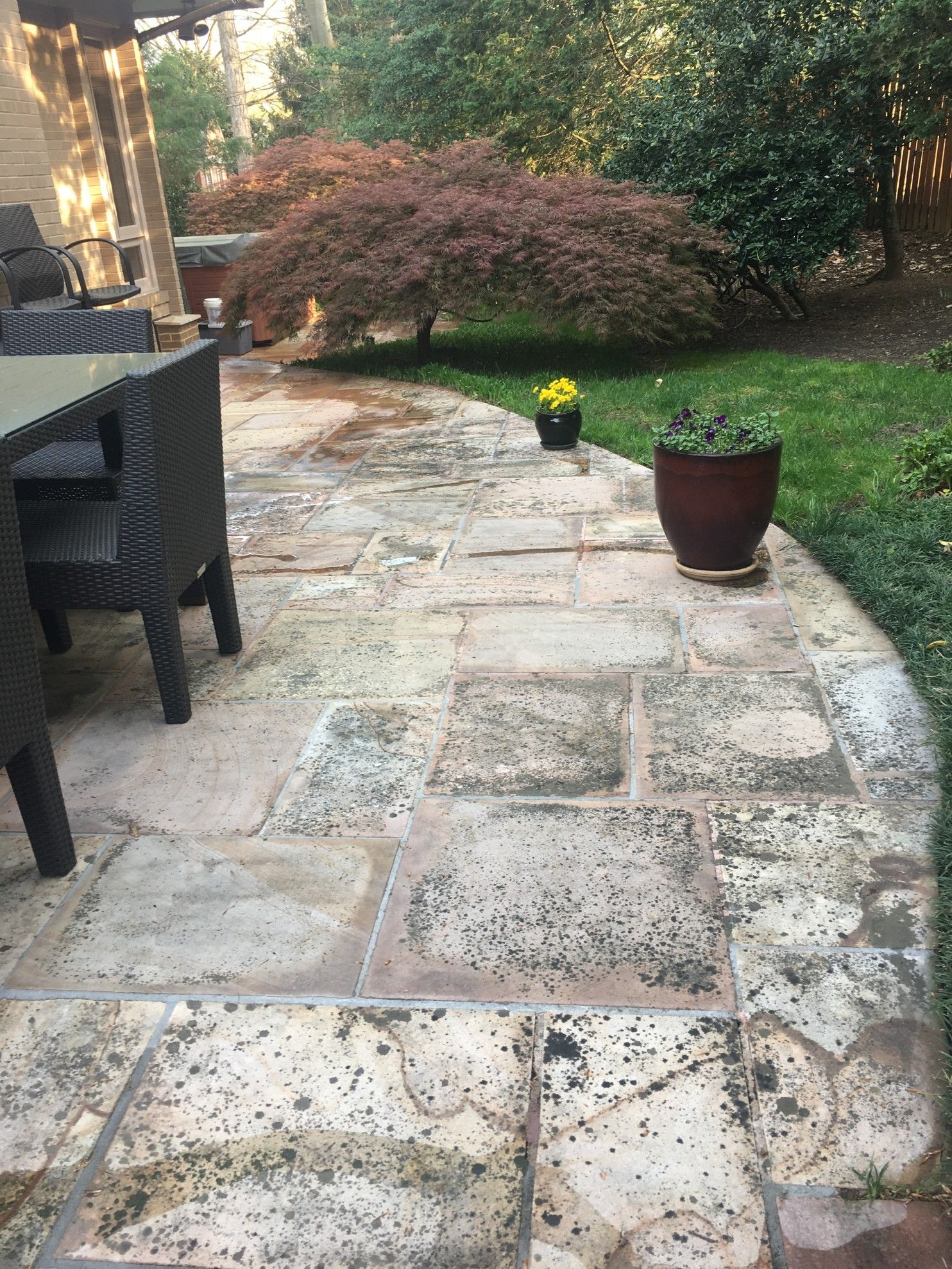 What to do when the power-washer canu0027t handle patio stains & What to do when the power-washer canu0027t handle patio stains | Washer ...