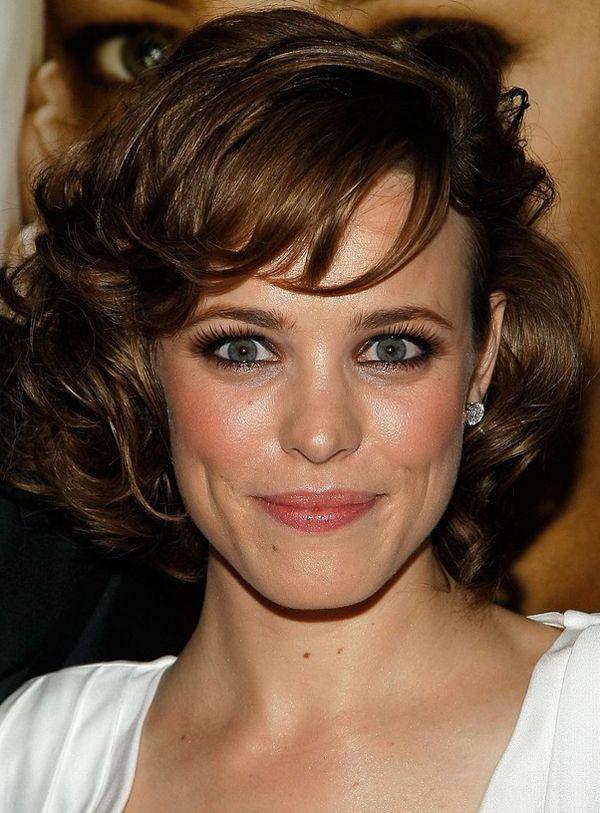 Terrific Medium Wavy Hair With Bangs Hairstyle Medium Curly Hairstyle Hairstyles For Women Draintrainus