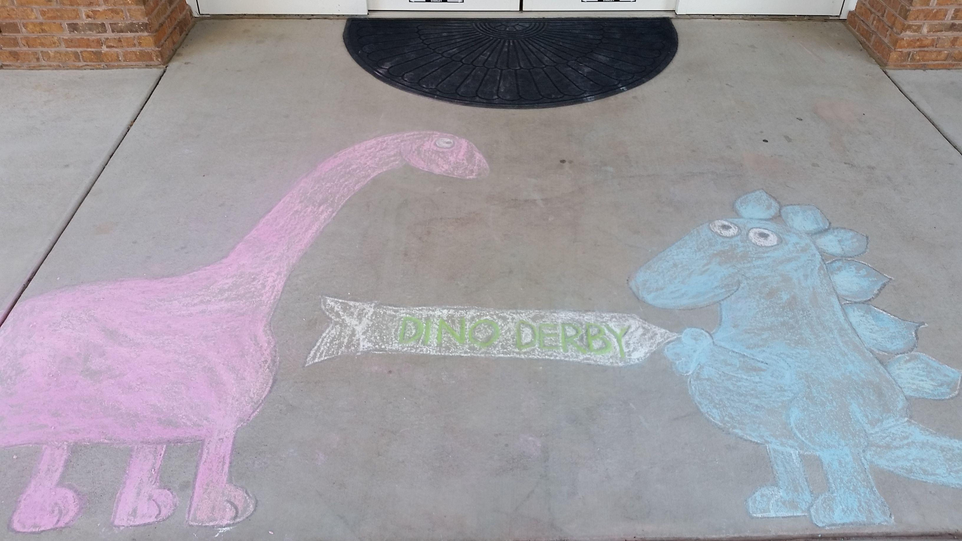 Dinosaur Sidewalk Chalk Chalk Design Sidewalk Chalk Chalk Drawings