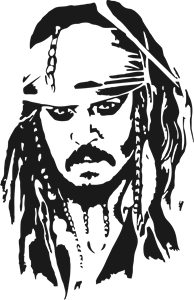 Jack Sparrow Logo Vector Cdr Free Download Silhouette Drawing Silhouette Art Sparrow Art