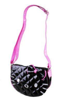 35b14a6cc $28.99 Amazon.com: Hello Kitty Cross Black Patent Leather Body Purse: Shoes