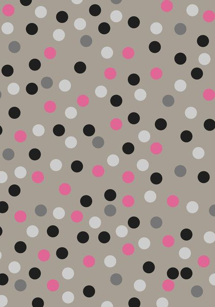 Background | colorful polka d.o.t.s.| black pink white on ...
