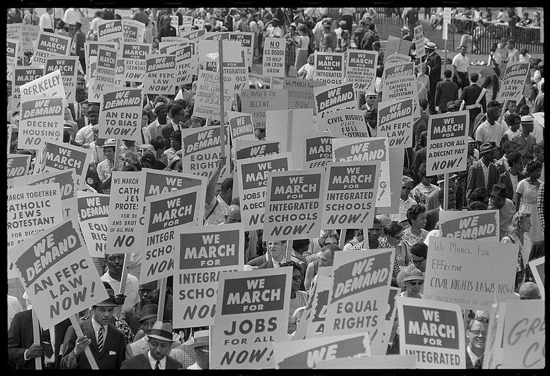 Signs Carried By Many Marchers During The March On Washington 1963 Loc Us History Washington Protest Photo