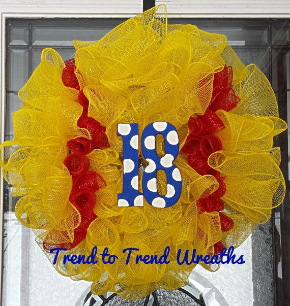 Hey, I found this really awesome Etsy listing at https://www.etsy.com/listing/181365117/softball-wreath