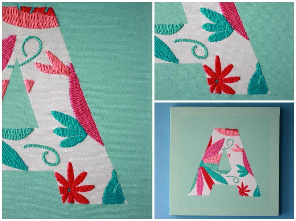 cuadros de letras bordados a mano con diseos originales hechos en colaboracin con la red - Cuadros Originales Hechos A Mano