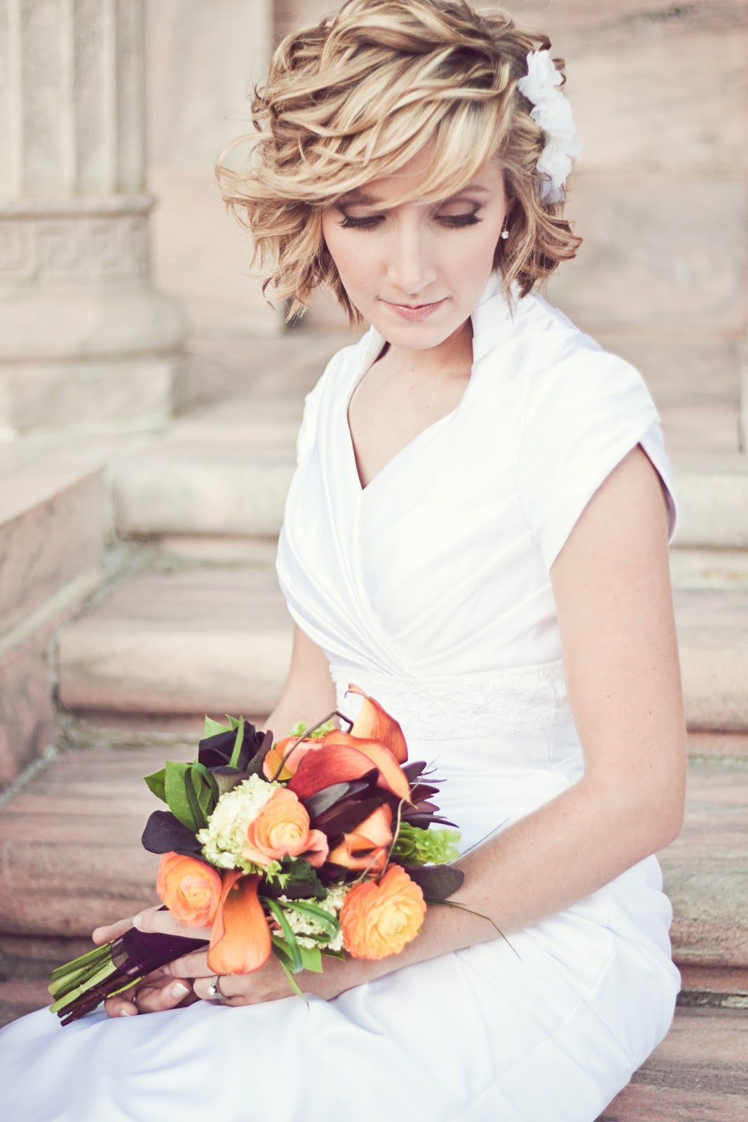 wedding day hair and make-up - short hair | alex crabtree hair and ...