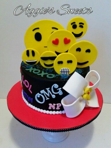 Emoji Birthday Cake Cakes N More Cakes Pinterest Emoji - 11th birthday cake ideas