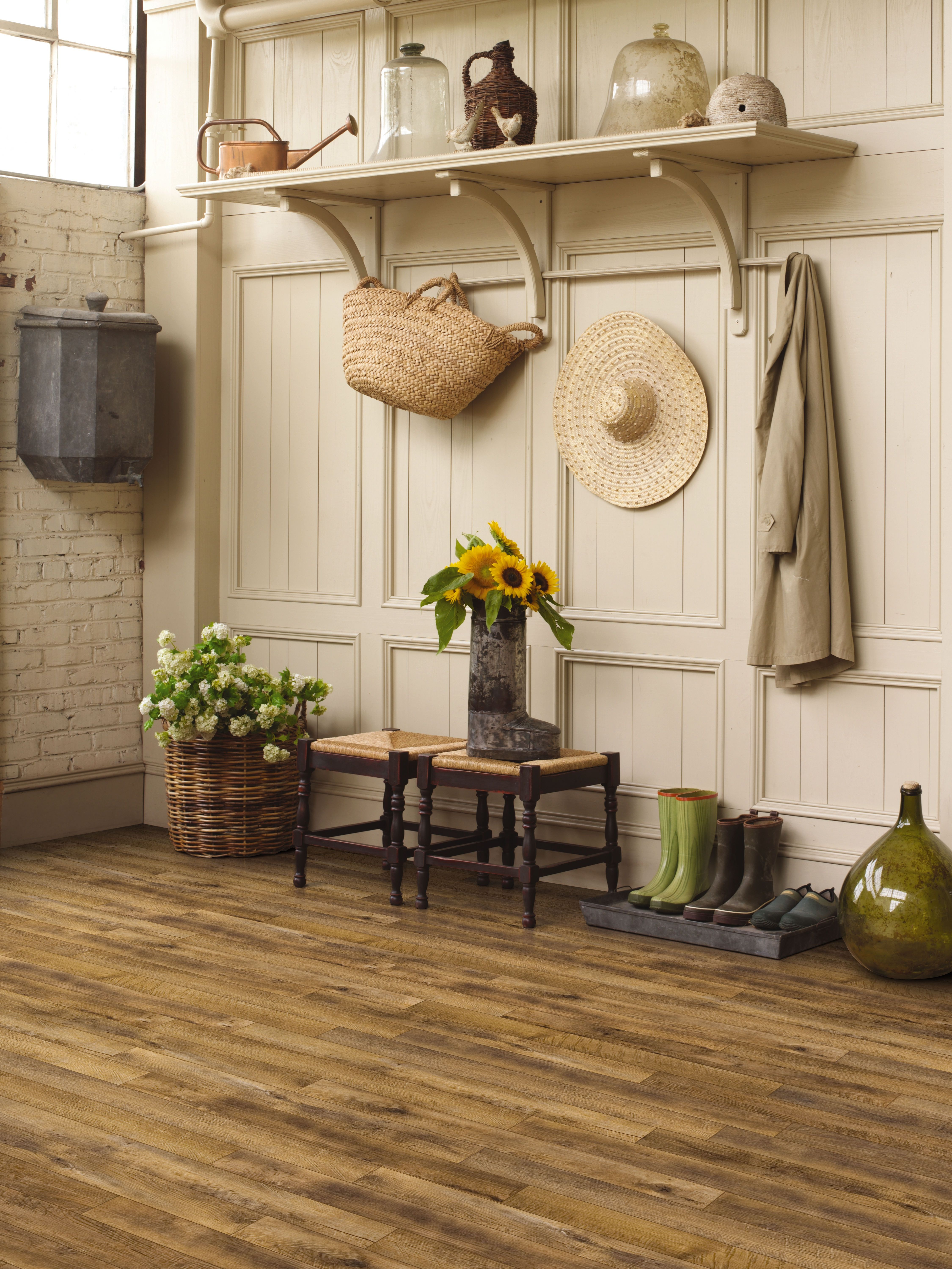 A rustic hardwood looks great with any style