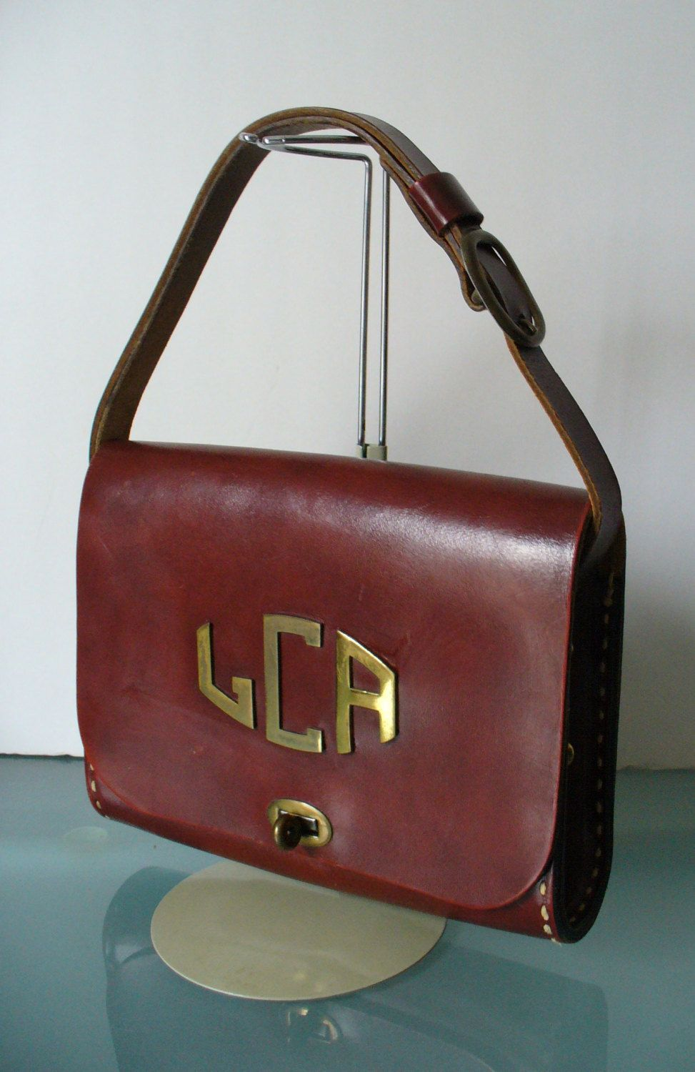 Vintage The Villager Thom Hird Leather Purse By Theoldbagonline On Etsy