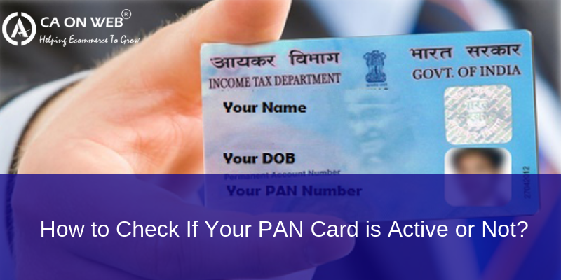 How To Check If Your Pan Card Is Active Or Not Credit Card Statement Online Taxes Active