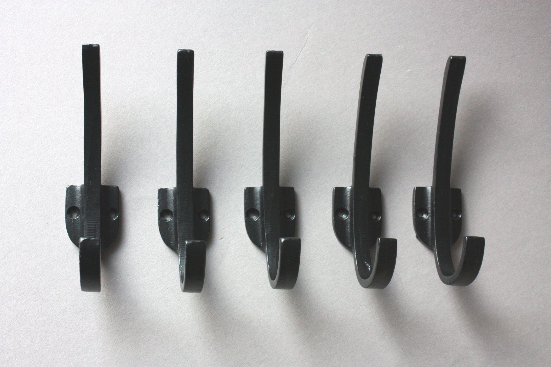 5 Haken Schwarz Schlicht Kleiderhaken Clothes Wall Hooks Kneipenhaken Garderobenhaken Garderobenhaken Kleiderhaken Handtuchhalter Bad