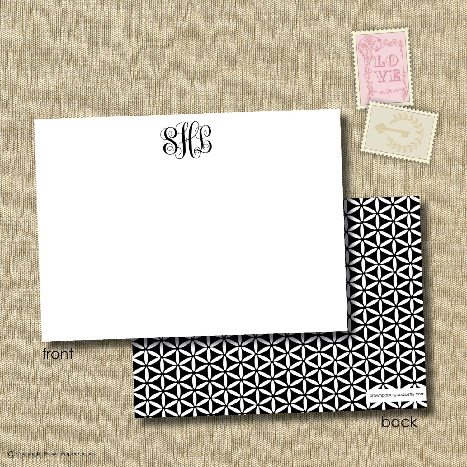 premium personalized social stationery. note card set. fine stationery. classic monogram by brownpaperstudios on Etsy https://www.etsy.com/listing/95638795/premium-personalized-social-stationery