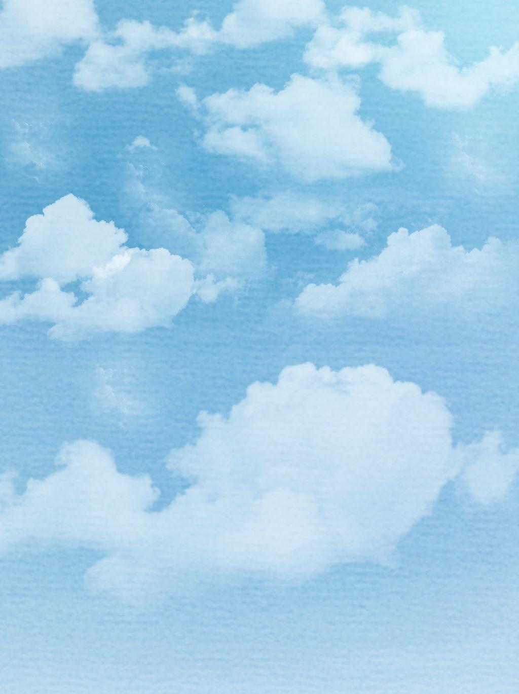 Materiel De Fond Bleu Aquarelle Nuages Bleu Ciel En 2020 Fond D Ecran Telephone Dessin De Nuages Fond D Ecran Colore