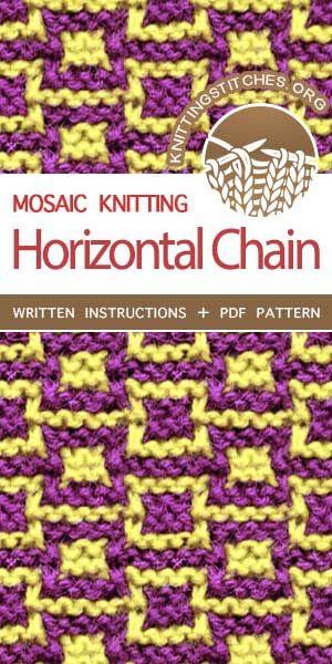Horizontal Chain | ...mosaic knitting patterns... | Pinterest ...