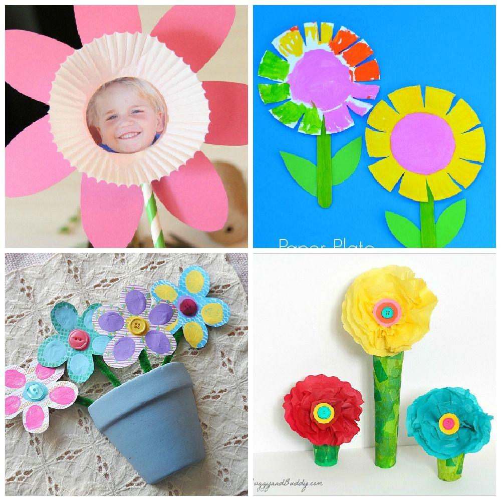 Cute creative flower crafts for kids flower crafts