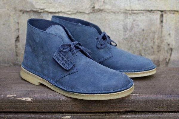 Clarks Slate Blue Desert Boot By Ronnie FiegProvidermag
