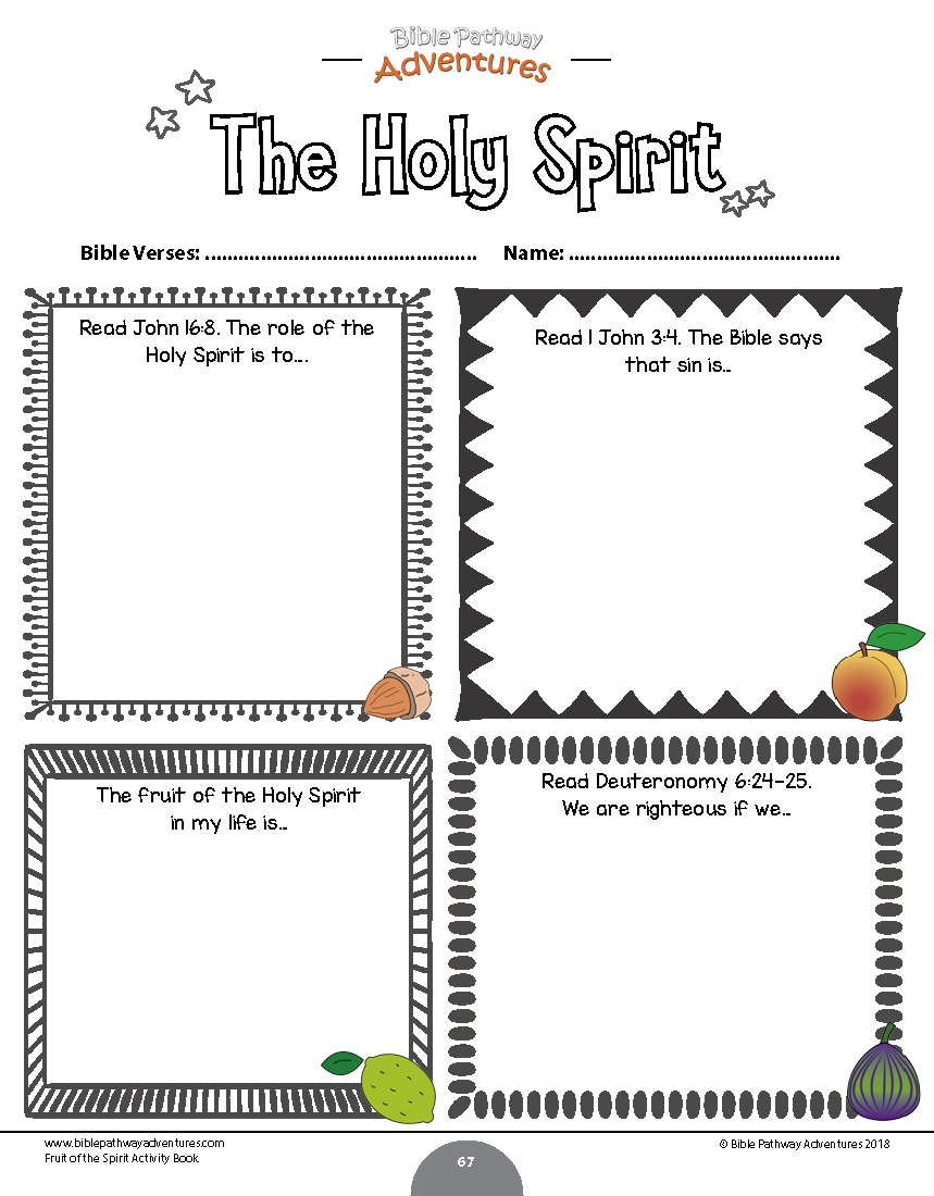 Worksheets Fruit Of The Spirit Worksheets fruit of the spirit coloring activity book kings kids ministries holy worksheet for from our printable instant download