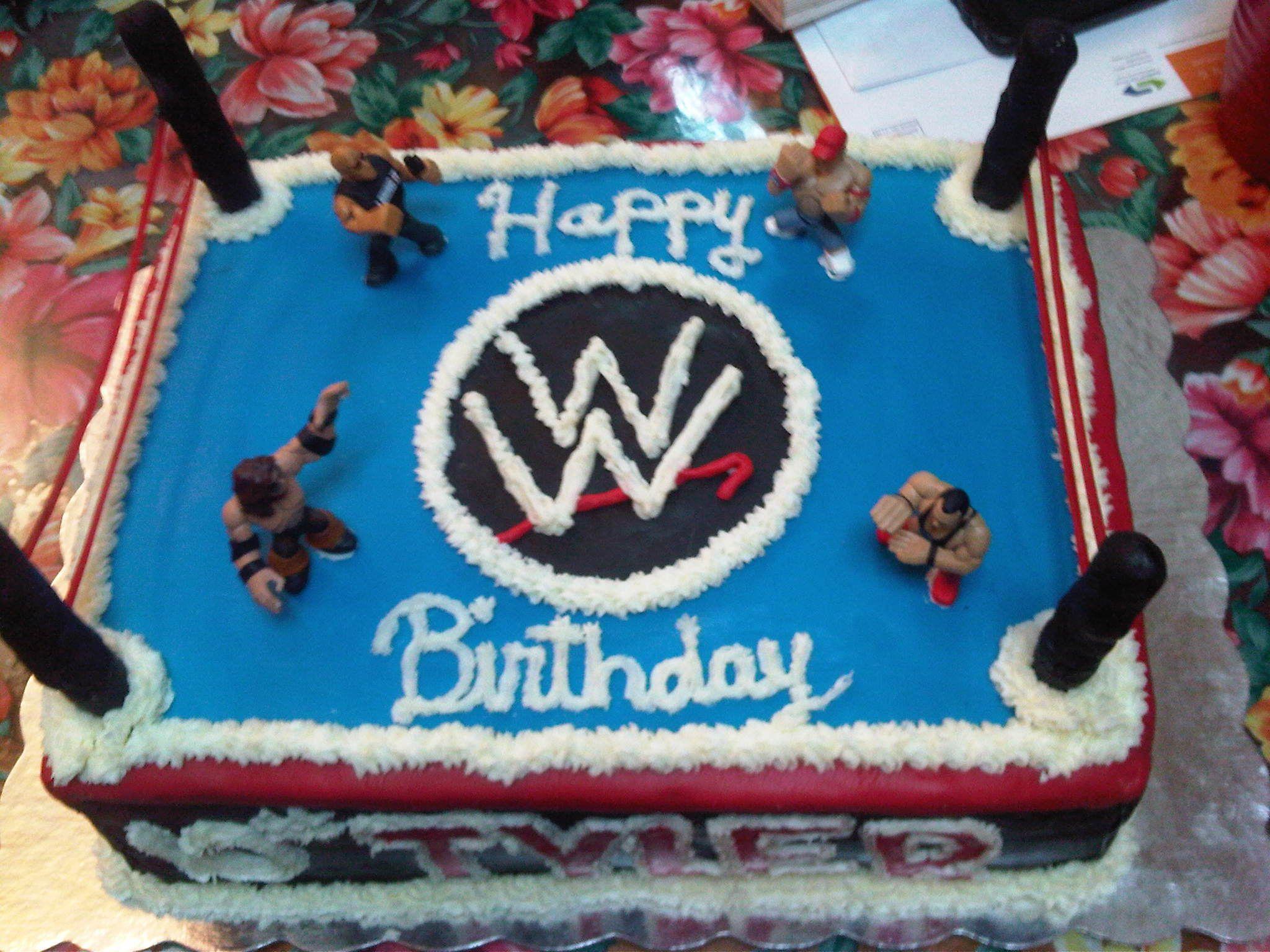 Wwe Cake Donovan Jones Wwe Birthday Cakes Wrestling