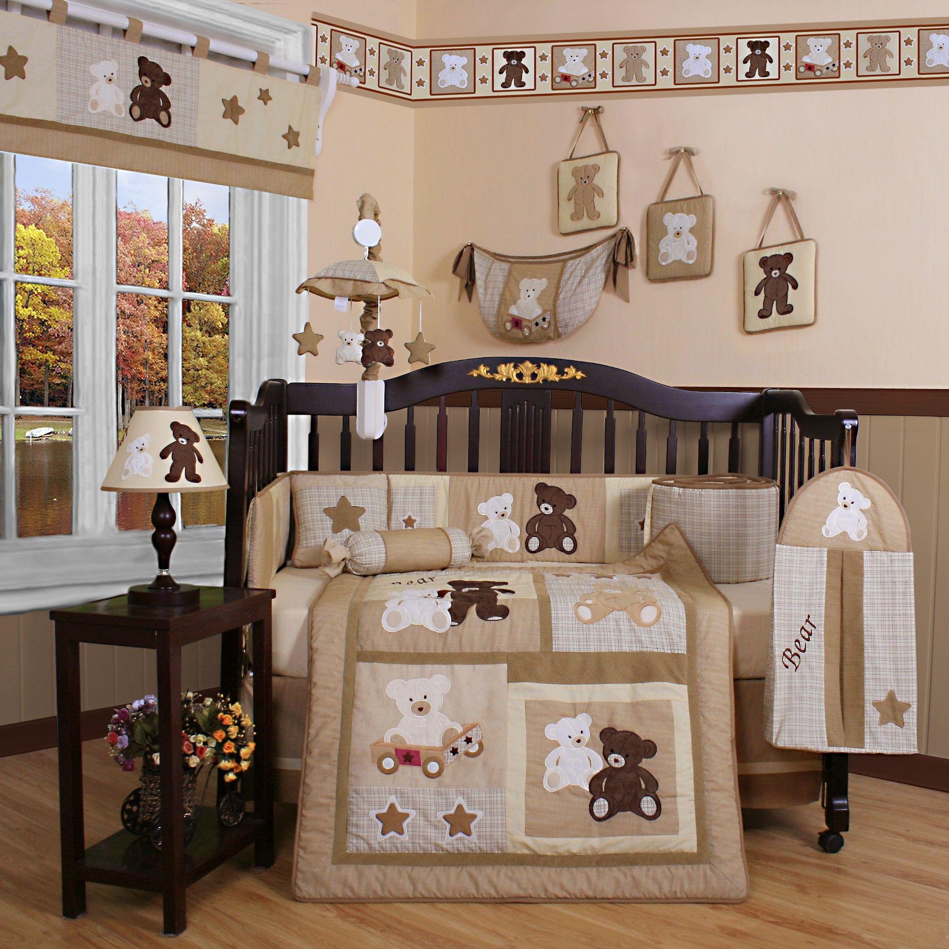 awesome-beige-dark-brown-wood-glass-cool-design-baby-room-nusery ...
