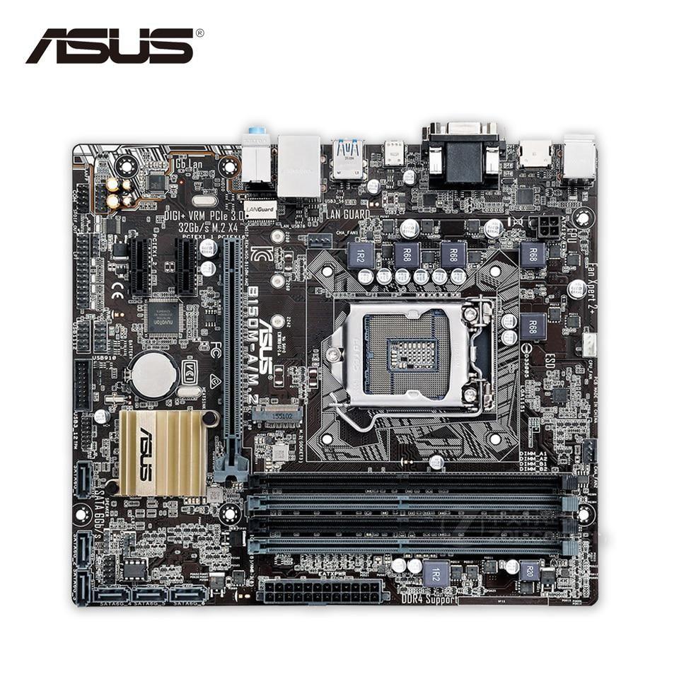 Asus B150m A M2 Desktop Motherboard B150 Socket Lga 1151 I7 I5 I3 H170m E D3 Chipset Intel H170 Ddr4
