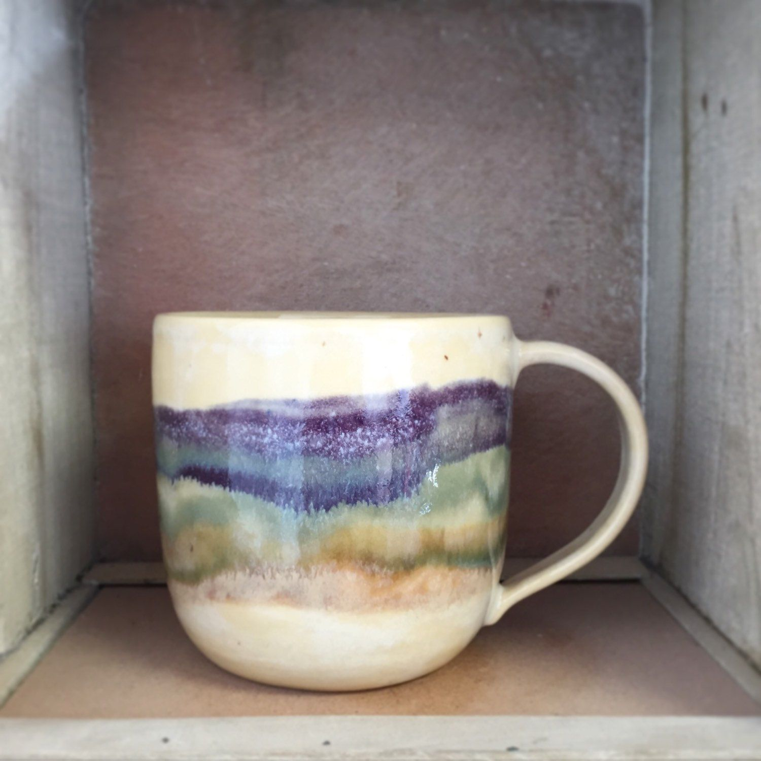 Amazing Oversized Cappuccino Cups Purple Green Brownlatte Large Coffee Cup Mug Cappuccino Mug Ceramic Coffee Cup Mug Cappuccino Mug Ceramic Purple Green