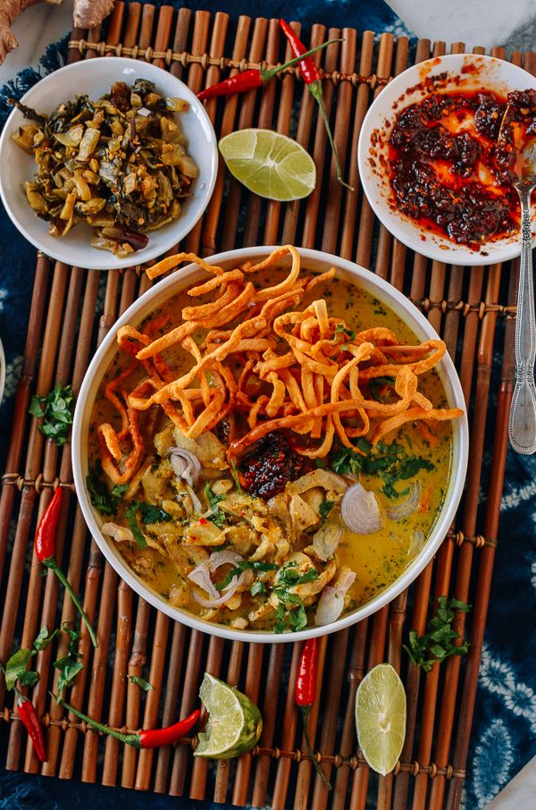 Khao soi is a coconut curry noodle soup hailing from Northern Thailand, Myanmar, and Laos. It consists of noodles in a thick, rich coconut broth, and usually chicken or beef. Learn how to make this delicious restaurant-worthy soup at home! Source: thewoksoflife.com