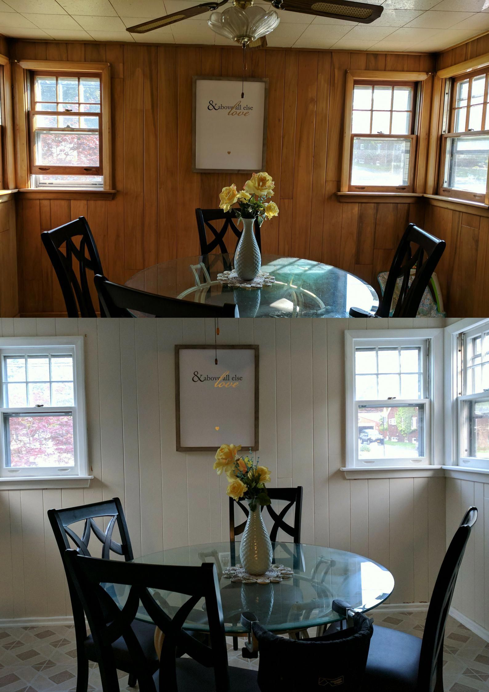 Paint Over Wood Paneling Walls: How To Paint Wood Paneling! #paint #paintpaneling
