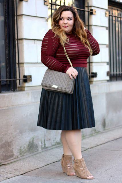 432c71e703f4f pleated leather midi skirt