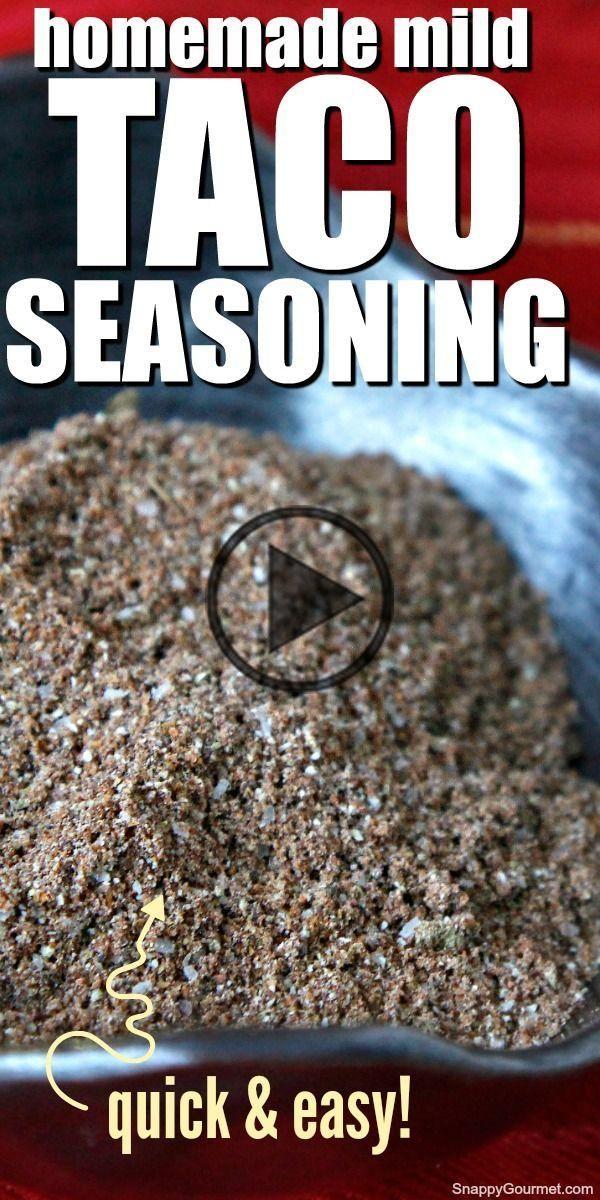 HOMEMADE TACO SEASONING @SnappyGourmet.com