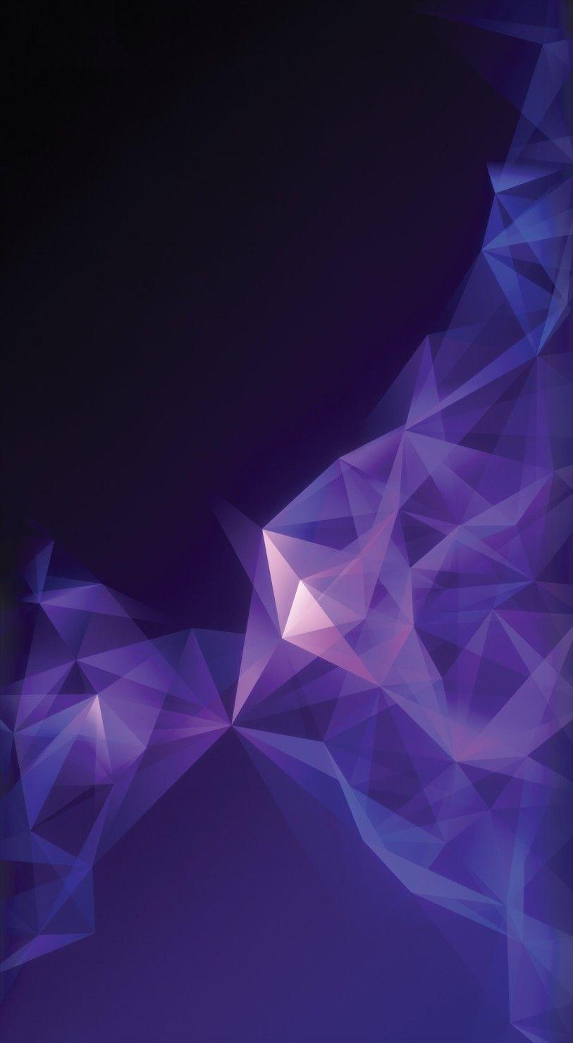 S9 Purple Wallpaper Clean Galaxy Colour Abstract Digital