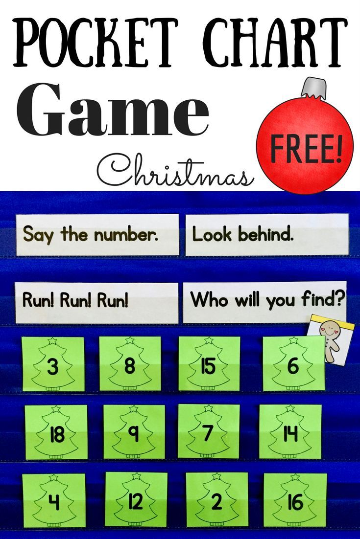 Practice numbers 1-20 with this fun Christmas pocket chart game ...