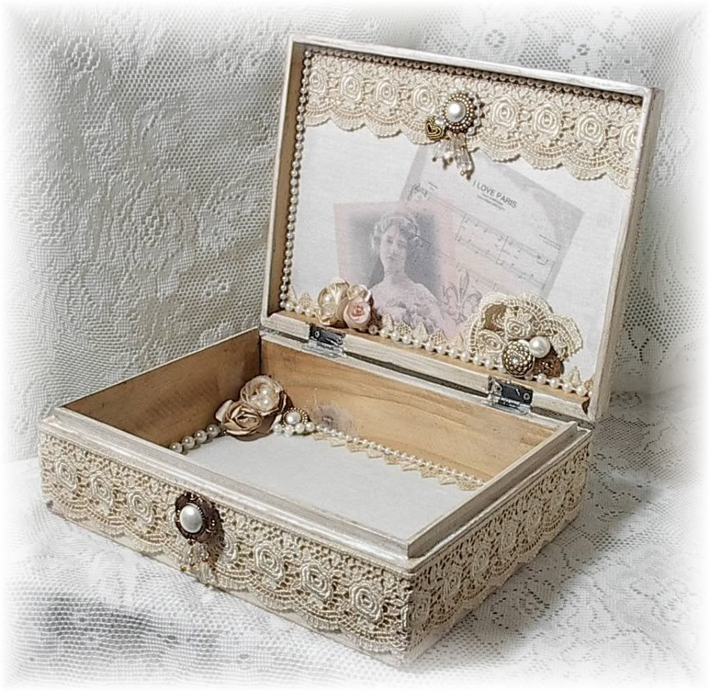 image detail for shabby vintage french chic altered art keepsake box sold diy pinterest. Black Bedroom Furniture Sets. Home Design Ideas