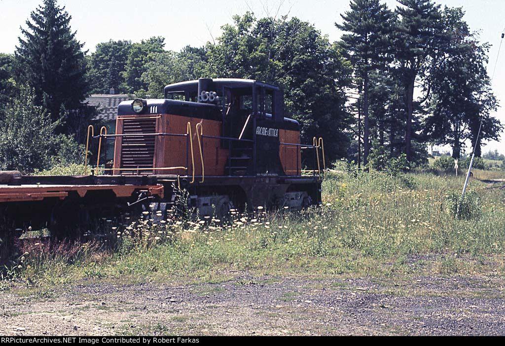 Arcade and Attica 111   Description:    Photo Date:  7/23/1973  Location:  Arcade, NY   Author:  Robert Farkas  Categories:  Roster  Locomotives:  ARA 111(44Tonner)