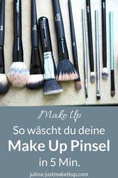 Photo of Wie du deine Makeup-Pinsel in 5 Minuten reinigst  Make Up Pinsel waschen Anleitu…