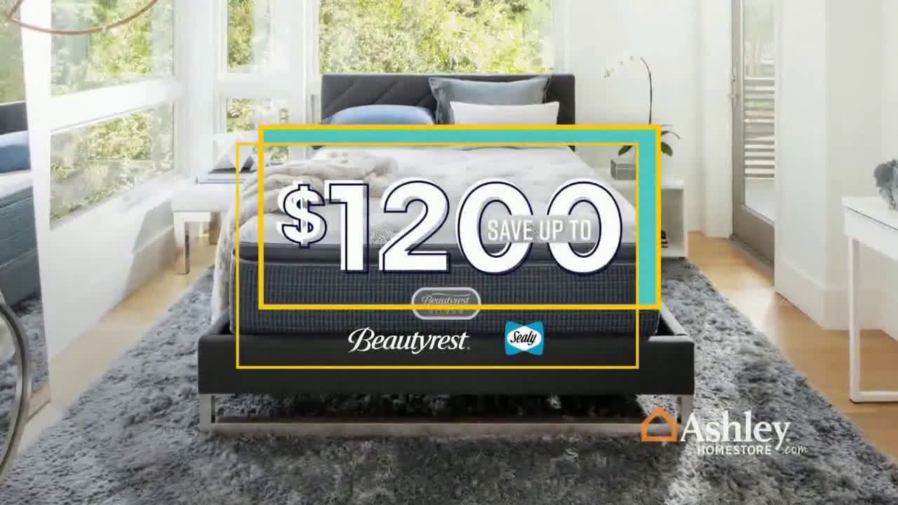 Ashley Homestore Labor Day Mattress Sale Final Days Beautyrest And Sealy Tv Commercial 2019