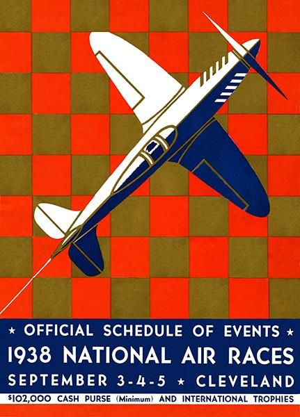 1920/'s International Air Races Vintage Aviation Poster 24x36