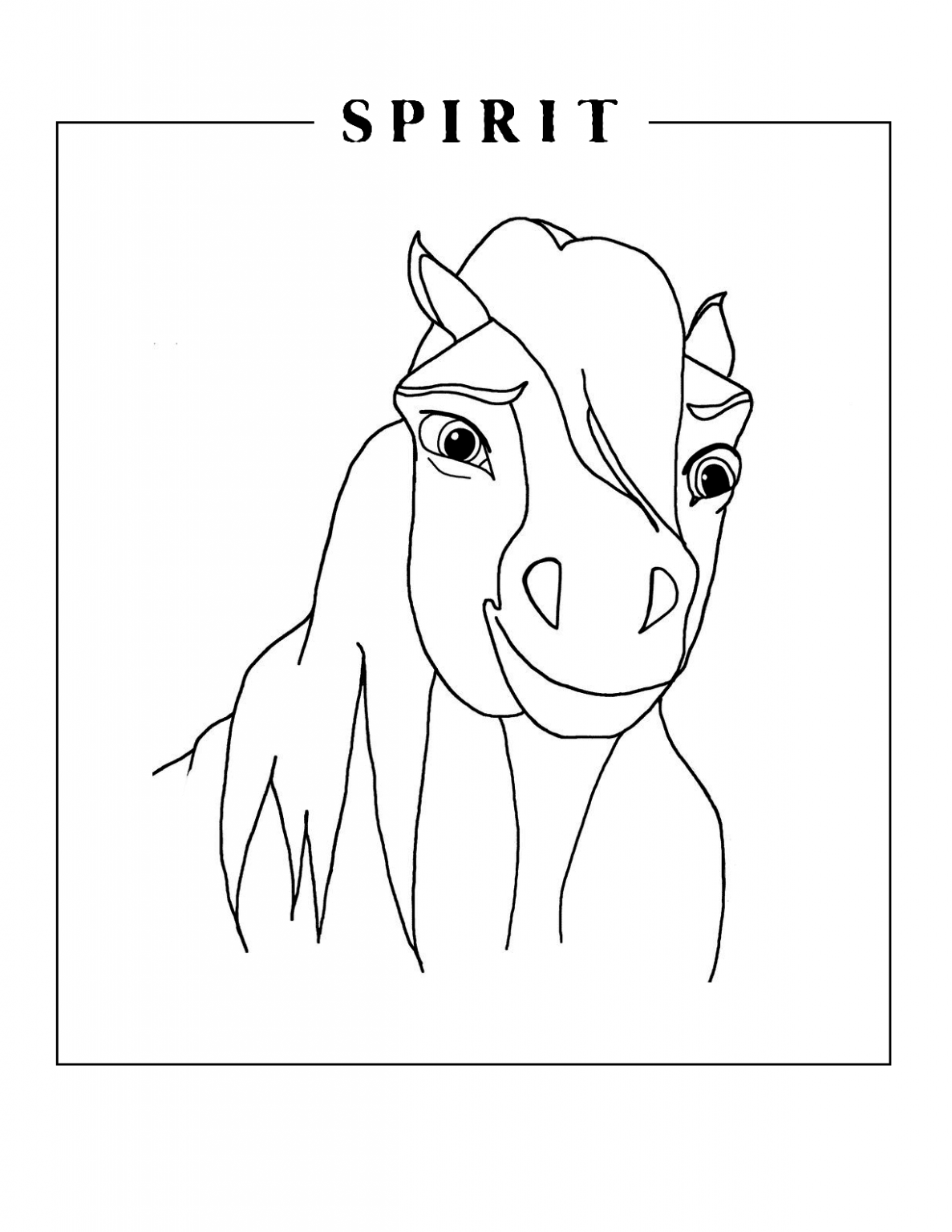 Spirit Coloring Pages Coloringcks In