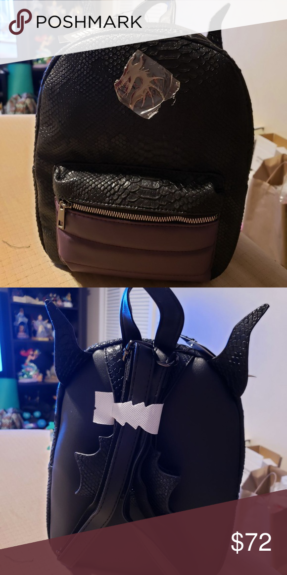 Maleficent 11 Faux Leather Mini Backpack Disneys Villains Purple