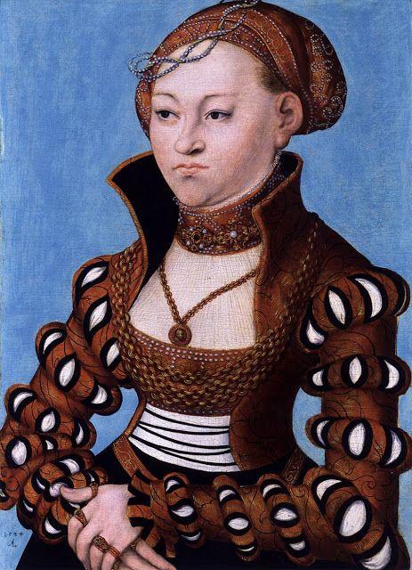 Portrait de la princesse Marie de Saxe, Lucas Cranach et son atelier